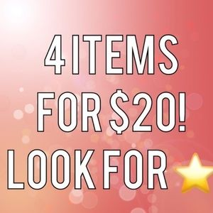 ⭐️ ⭐️ All Items with ⭐️ 4 for $20!! ⭐️⭐️